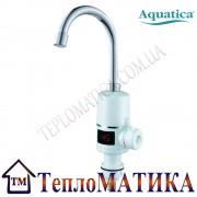 Кран-водонагреватель проточный для кухни гусак ухо с дисплеем на гайке AQUATICA NZ-6B142W
