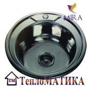 Кухонная мойка MIRA MR 490 +сифон (врезная, Decor 0,8 мм)