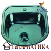 Кухонная мойка MIRA MR 4946 +сифон (врезная, Decor 0,8 мм)