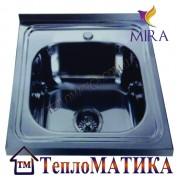 Накладная мойка MIRA MR 5050 +сифон (Decor 0,8 мм)