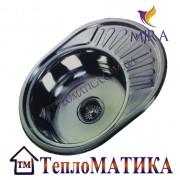 Кухонная мойка MIRA MR 5745 +сифон (врезная, Decor 0,8 мм)