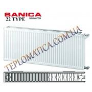 Радиатор стальной SANICA 22 300x1000 (пр-во Турция, 22 тип, высота 300 мм)
