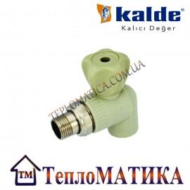Кран радиаторный угловой 25х1/2 Kalde (КБУ)