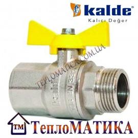Кран шаровый для газа 3/4 ВН Kalde (бабочка)