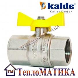Кран шаровый для газа 1/2 ВВ Kalde (бабочка)
