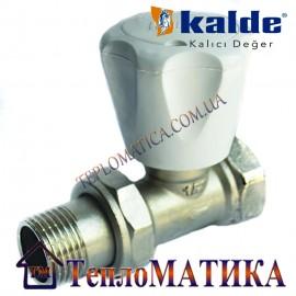 Радиаторный кран прямой 1/2 Kalde (верхний)