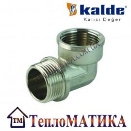 Уголок никелированный 1 1/4 ВН (внутренняя-наружная резьба)  Kalde