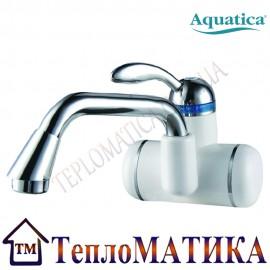 Кран-водонагреватель проточный для раковины гусак длинный изогнутый настенный AQUATICA LZ-6A211W
