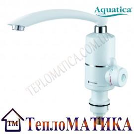 Кран-водонагреватель проточный для кухни гусак прямой на гайке  AQUATICA NZ-6B212W