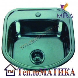 Кухонная мойка MIRA MR 4946 +сифон (врезная, Satin 0,8 мм)