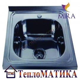 Накладная мойка MIRA MR 5050 +сифон (Satin 0,8 мм)
