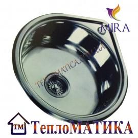 Кухонная мойка капля MIRA MR 530 +сифон (врезная, Polish 0,8 мм)