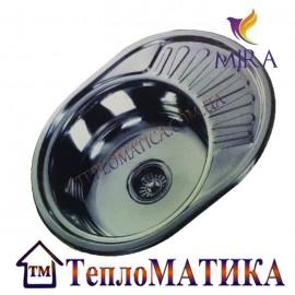 Кухонная мойка MIRA MR 5745 +сифон (врезная, Polish 0,8 мм)