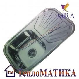 Кухонная мойка MIRA MR 7549 +сифон (врезная, Decor 0,8 мм)