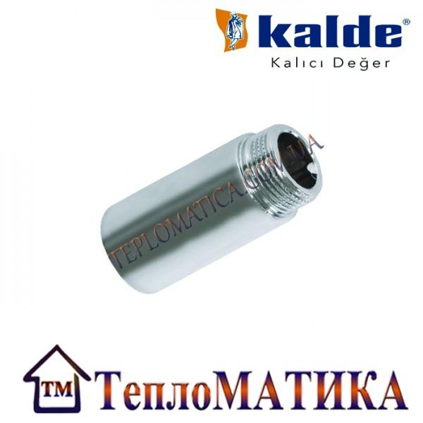 Резьбовой хромированный удлинитель НВ 1/2 25mm Kalde