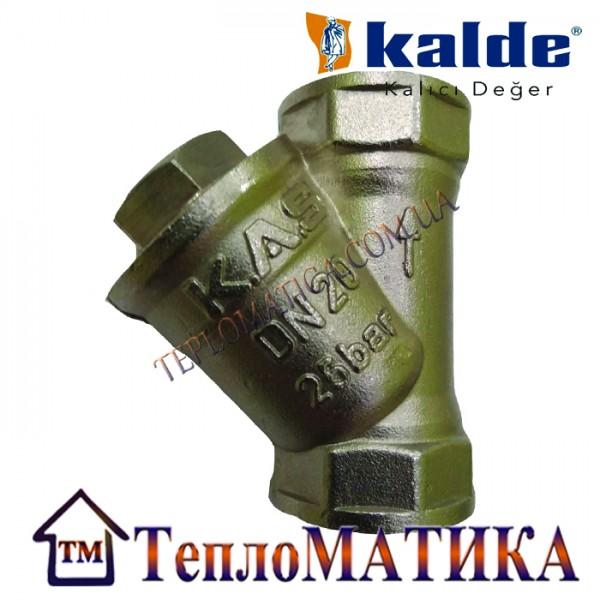 """Фильтр грубой очистки сетчатый 2"""" никелированный Kalde"""
