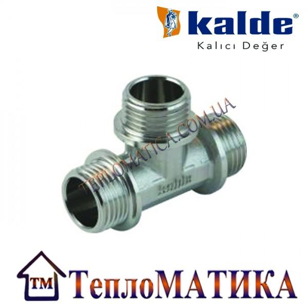Тройник никелированный 1/2 ННН Kalde (наружная резьба)