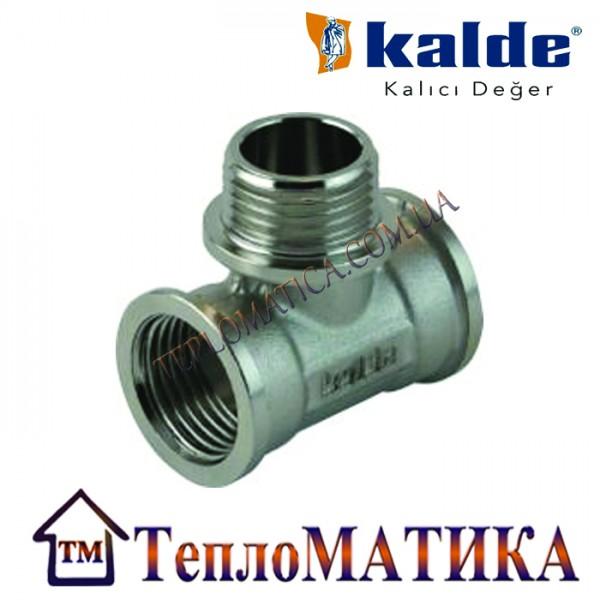 Тройник никелированный 1/2 ВНВ Kalde (внутренняя-наружная резьба)
