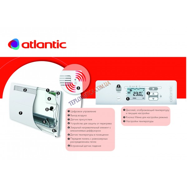 Конвектор Atlantic ALTIS ECOBOOST CHG-3 PACK2 DAP (1000W)