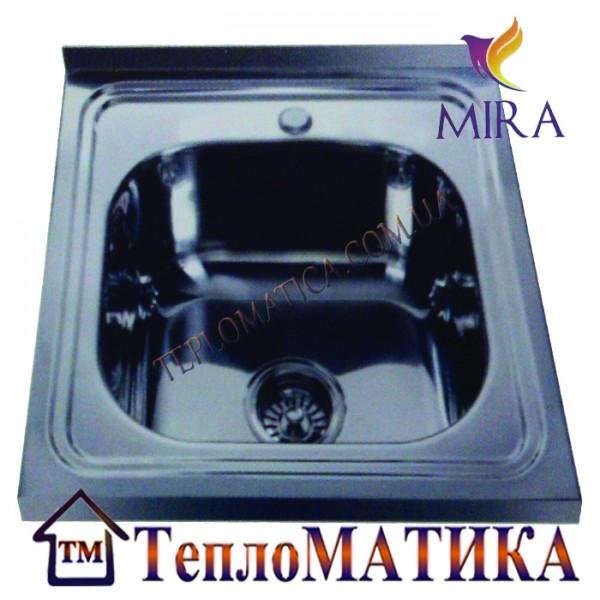 Накладная мойка MIRA MR 5050 +сифон (Polish 0,8 мм)