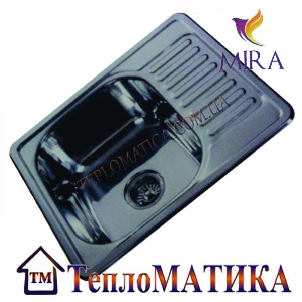 Кухонная мойка MIRA MR 5848 +сифон (врезная, Decor 0,8 мм)