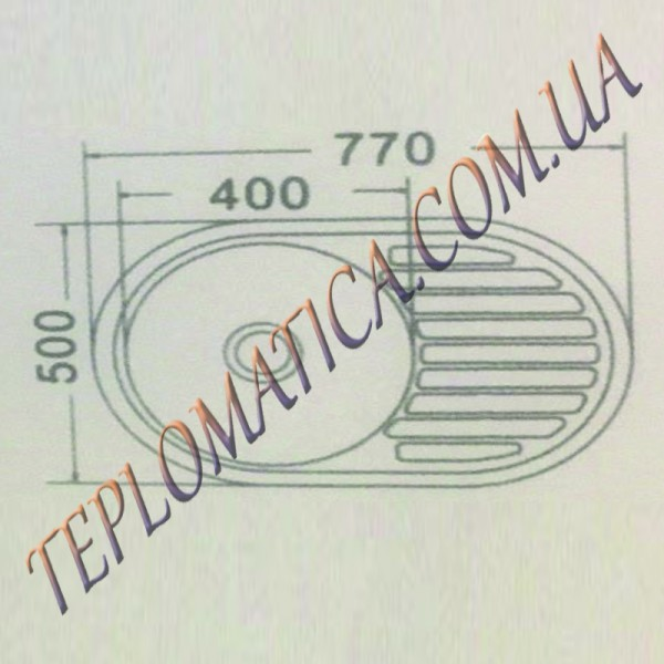 Кухонная мойка MIRA MR 7750 +сифон (врезная, Decor 0,8 мм)