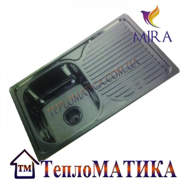 Кухонная мойка MIRA MR 7848 +сифон (врезная, Decor 0,8 мм)