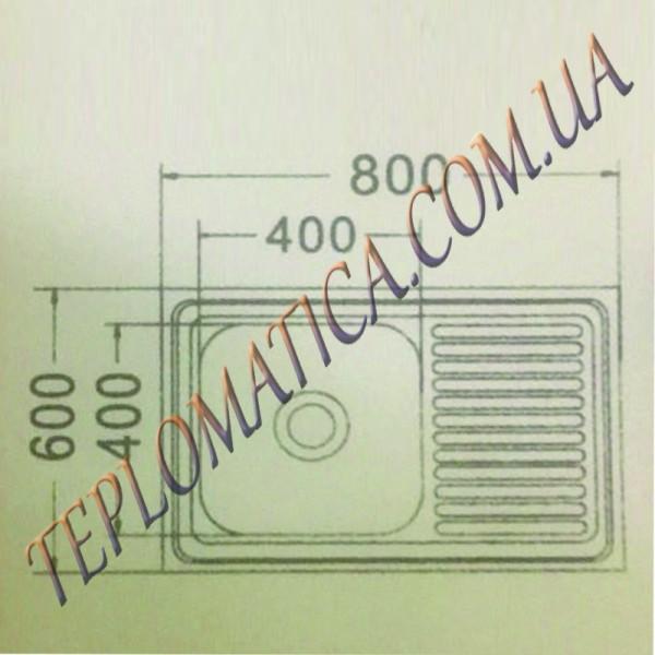 Накладная мойка MIRA MR 8060 +сифон (Satin 0,8 мм)