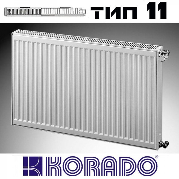 Радиатор стальной KORADO 11 500x800 (пр-во Чехия, 11 тип, высота 500 мм, бок)