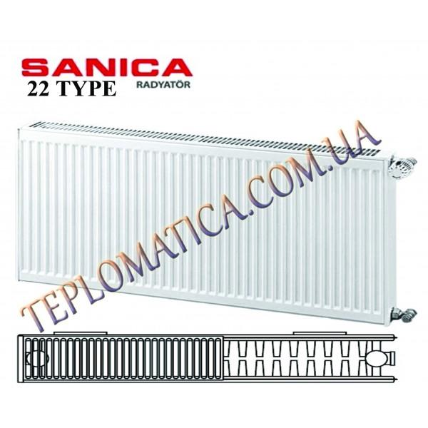 Радиатор стальной SANICA 22 300x1400 (пр-во Турция, 22 тип, высота 300 мм)