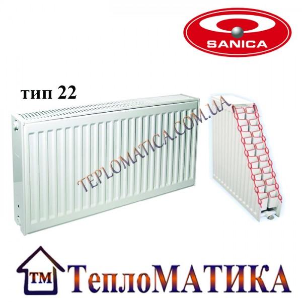 Радиатор стальной SANICA 22 500x900 (пр-во Турция, 22 тип, высота 500 мм)