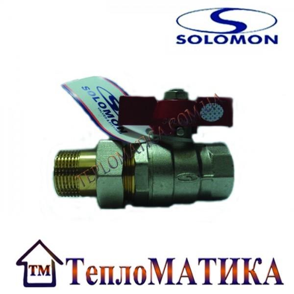 Кран шаровый с американкой SOLOMON 1/2 усиленный (с накидной гайкой)