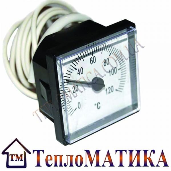 Термометр (квадратный) 45мм., 0-120С. для котлов